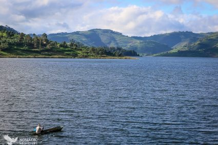 Paddling to Work, Lake Bunyonyi, Uganda