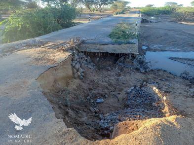 The Washed-out Bridge to Kalokol, Kenya