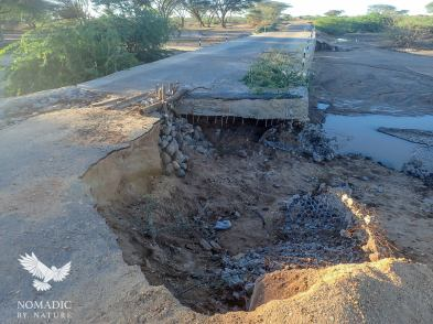 The Washed-out Bridge to Kalokol, Kenya