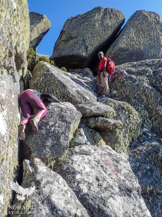 Bouldering Under Sapitwa Summit, Mount Mulanje, Malawi