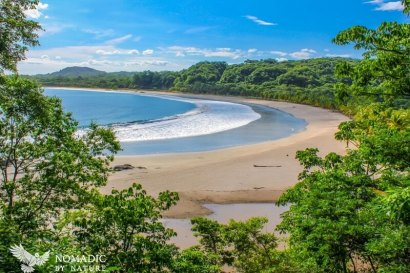 The Crecent Cove of Playa Carrillo, Costa Rica