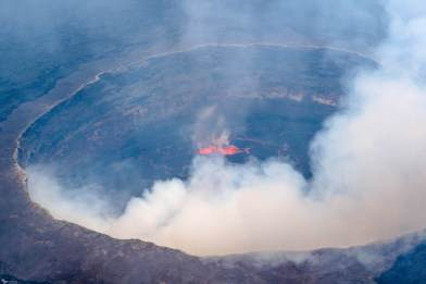 The Crater at Nyiragongo Lava Lake, Virunga National Park, DR Congo