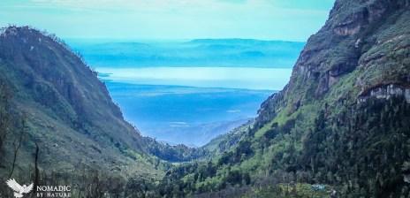 Lake Edward from the Rwenzori Mountains