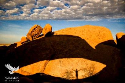 My Moonshadow through the Arch, Spitzkoppe, Namibia