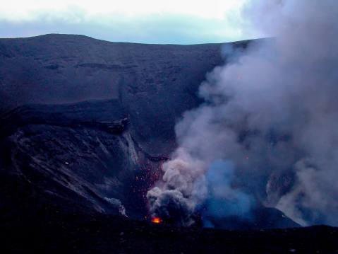Mount Yasur Bellowing Smoke, Tanna Island, Vanuatu