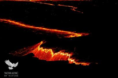 Lava Crust Pulling Apart, Erta Ale, Ethiopia