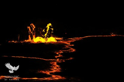 An Explosion from a Fissure in the Crust, Erta Ale, Ethiopia