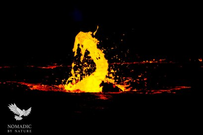 A Dancing Fountain of Lava, Erta Ale, Ethiopia