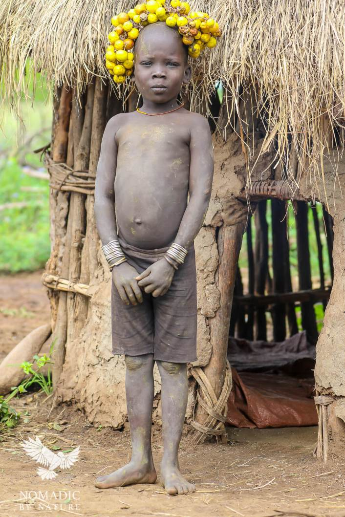 A Young Boy from the Mursi Tribe, Ethiopia