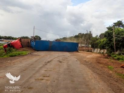 Jack-Knifed Truck Crash, Omo Valley, Ethiopia