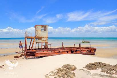 Shipwreck, Benguerra Island, Vilanculos, Mozambique