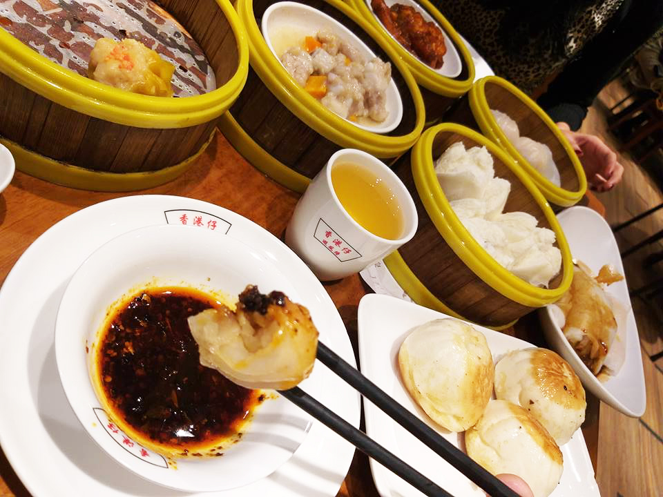 Getting Dim Sum in Tsim Sha Tsui Hong Kong