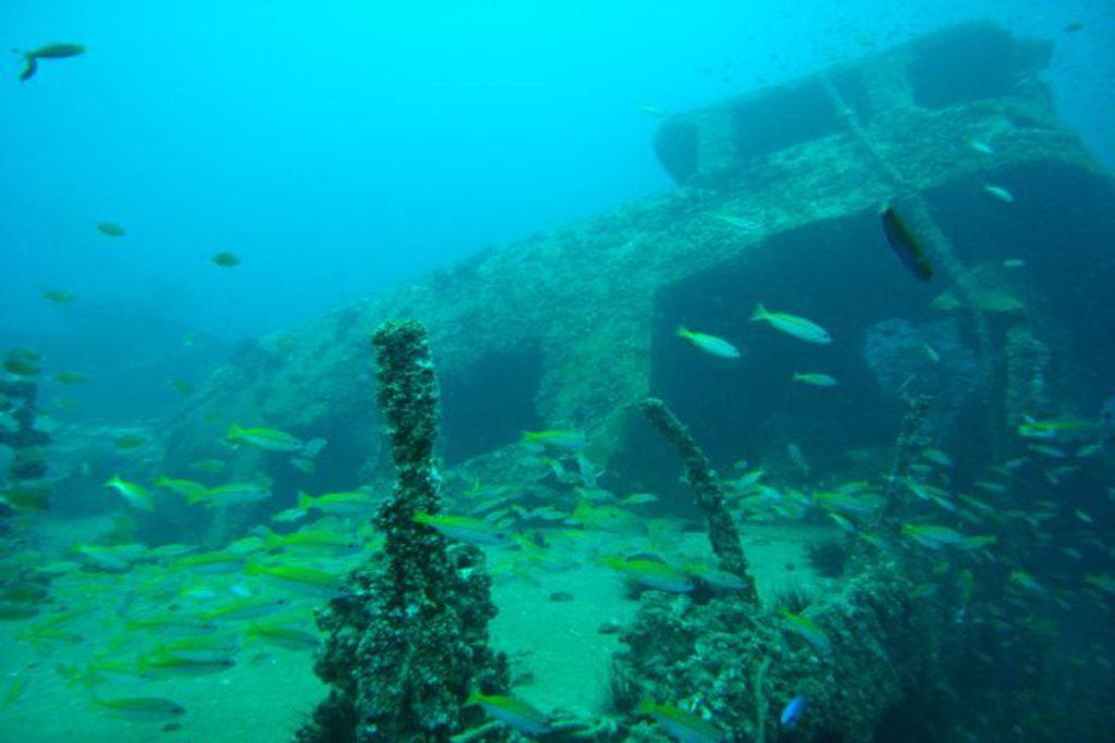 king cruiser wreck scuba diving in andaman sea
