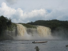 Powerful water falls every where.