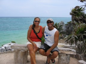 Us in Tulum.