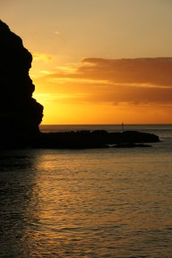 St Helena sunset.