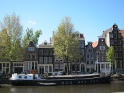 On the Canal in Amsterdam.