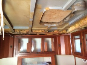 Galley ceiling.