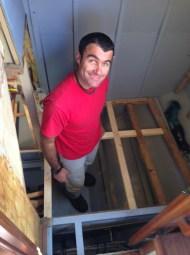 Making the aft head floor frames.