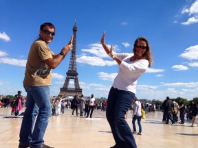 Messing around in Paris.