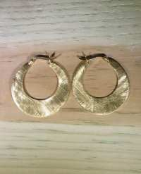 Brushed Gold Hoop Earrings - Nomadic Ant