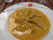 Specialite de la maison...Lobster ravioli