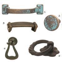 Rustic Cabinet Hardware | Nomadic Decorator