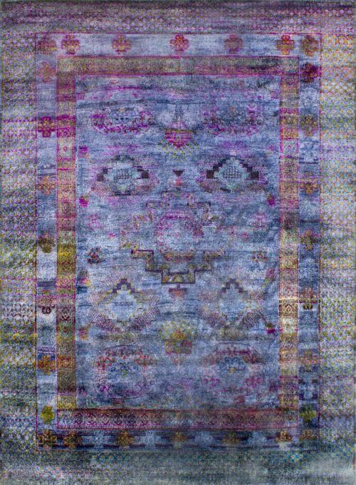 Silk Sari Rug by Elte