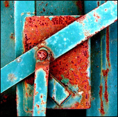 Rust and Blue by Photographer Tina Negus