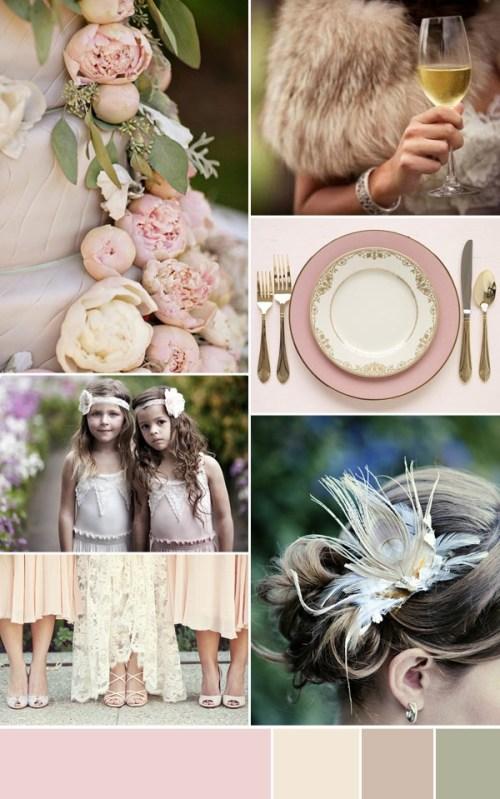 Dusty Pink Wedding Inspiration via One Fab Day Blog