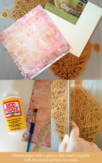"DIY ""Art Square"" with Patterned Paper and Stencil ..."