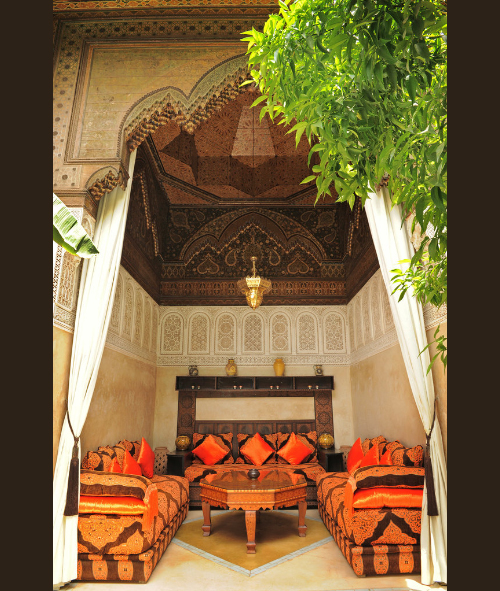 arabian nights living room country french rooms 1001 fantasy nomadic decorator in morocco via new york times
