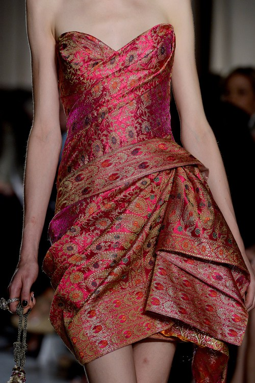 Marchesa RTW SS13 India Inspired