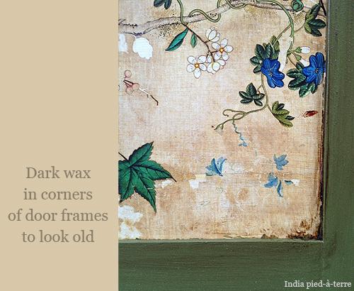 Dark Wax in Corners