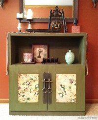 "DIY Cabinet Makeover: From Danish Modern to ""Antique ..."