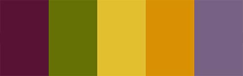 Laos Spring Roll Color Palette