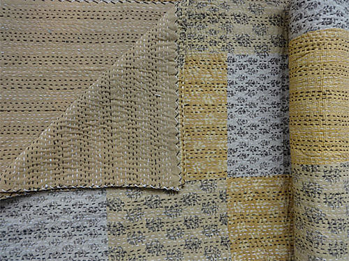 Natural Color Kantha Quilt from Indian Home Textile shop on Etsy