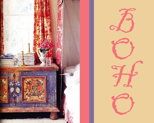 Painted Cabinet for Boho Style