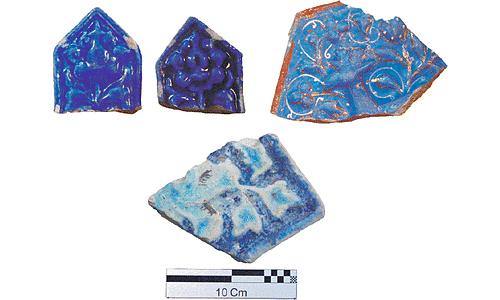 Ancient Iranian Tile Fragments
