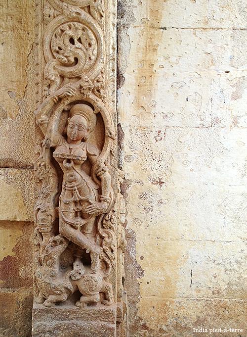 Entrance to Shiva Temple Near Nandi Hill in Karnataka India