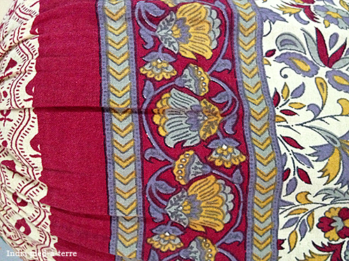 Pillow with India Print
