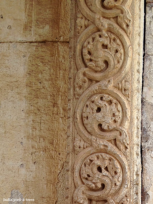Patterns Carved in Stone in South India Temple
