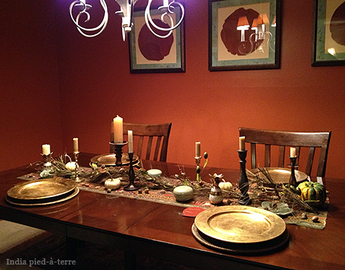 Table Setting for Thanksgiving