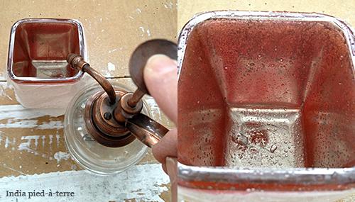 Antique Mercury Glass with Krylon Looking Glass Paint