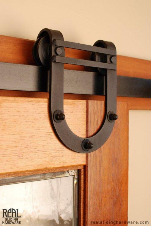 Horseshoe Barn Door Hardware from RealSlidingHardware on Etsy