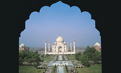 Taj Mahal Seen Through Mughal Arch