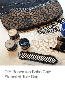 DIY Boho Chic Stenciled Tote Bag