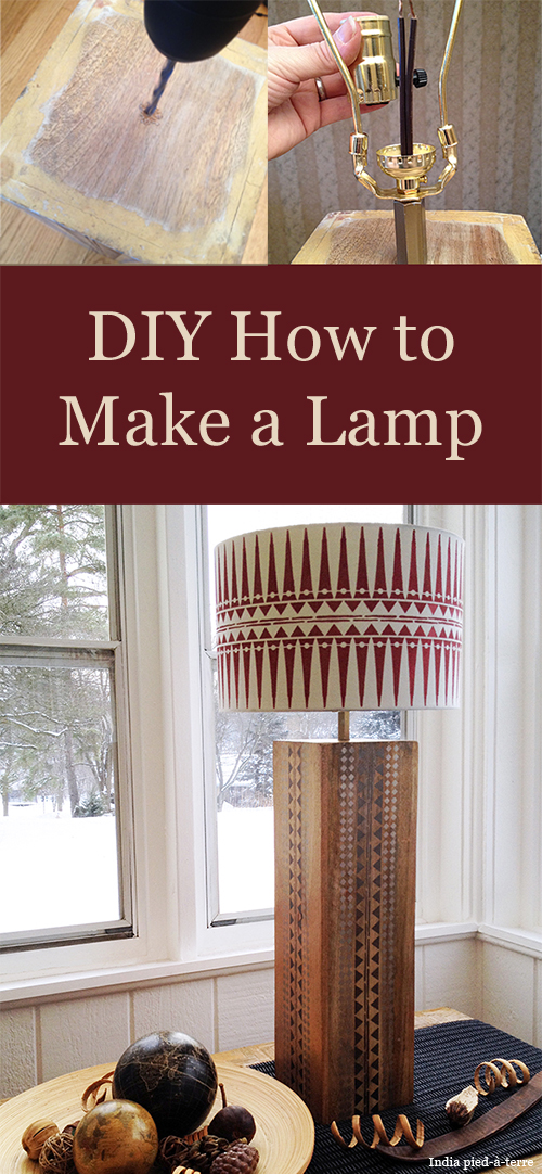 DIY How to Make a Lamp