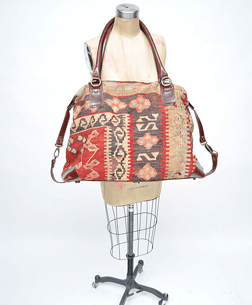 Vintage Kilim Duffle Bag via Etsy Shop Goodbye Heart Woman