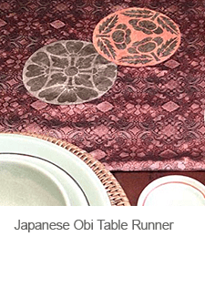 DIY Japanese Obi Table Runner